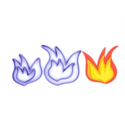Emporte pièce en kit flammes