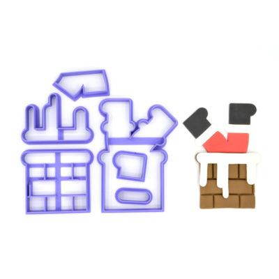 Emporte pièce en kit Père noël dans cheminée