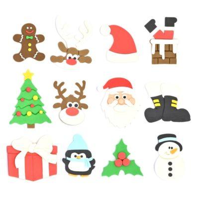 Lot de 12 emporte pièces en kit Thème Noël