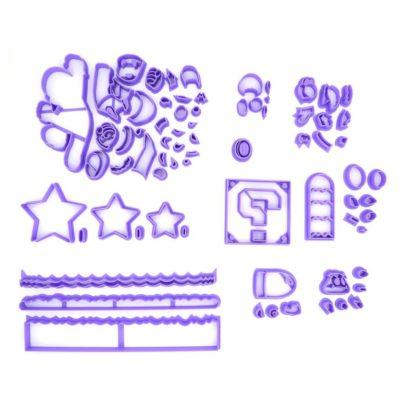 Lot d'emporte pièces pour gâteau blog thème Mario