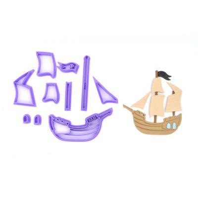 Emporte pièce en kit bateau de pirates
