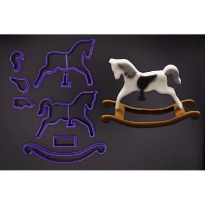 Emporte pièce en kit cheval à bascule 3D