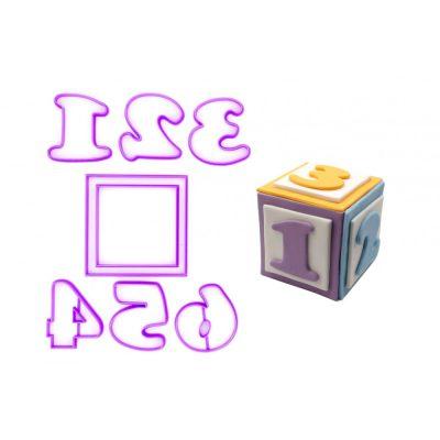 Emporte pièce en kit cube bébé 3D (6 chiffres)