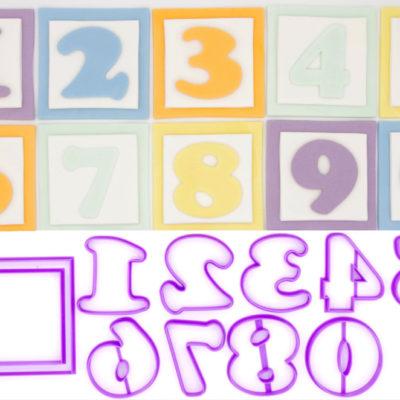 Emporte pièces en kit cube bébé 3D (10 chiffres)