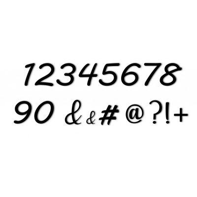 Lot de 10 chiffres + caractères spéciaux
