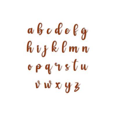 Lot de tampons majuscules Sweet girl + minuscules + chiffres et caractères spéciaux