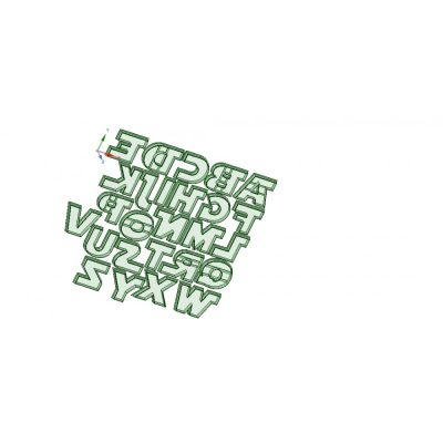 Lot de 26 emporte pièces lettres alphabet SW