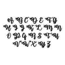 Lot de 26 tampons lettres majuscules WATERMELON