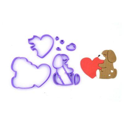 Emporte pièce en kit chien coeur