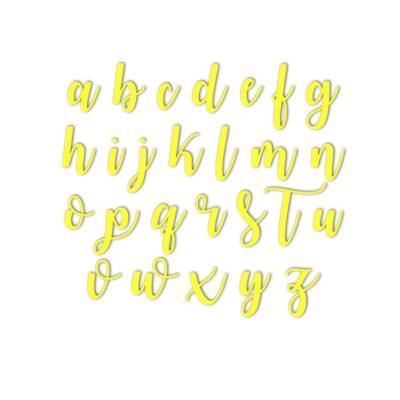Lot de tampons majuscules Watermelonl + minuscules + chiffres et caractères spéciaux