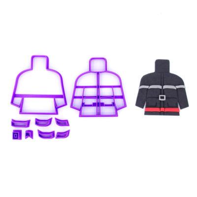 Emporte pièce veste de pompier