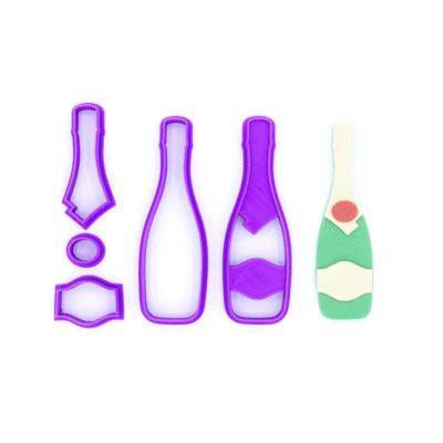 Emporte pièce bouteille de champagne