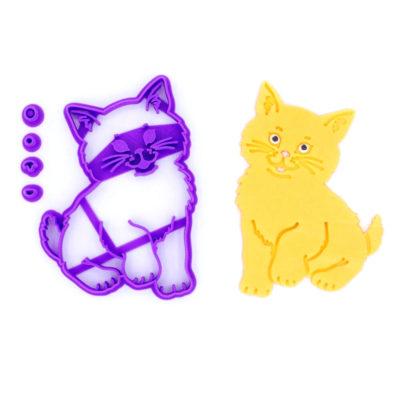 Emporte pièce en kit chat assis