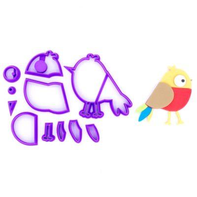 Emporte pièce en kit oiseau coloré