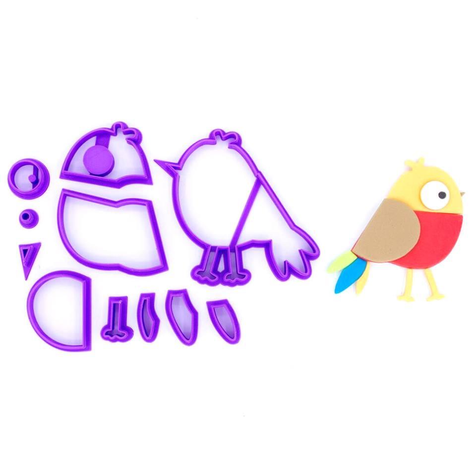 Emporte Piece En Kit Oiseau Colore Mini Miss Sugar