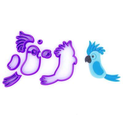Emporte pièce en kit perroquet bleu