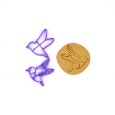 Emporte pièce pour biscuits relief colibri