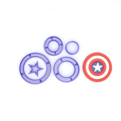 Emporte pièce en kit bouclier captain america