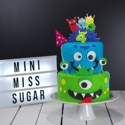 Lot de 11 emporte-pièces pour gâteau blog thème Monstre