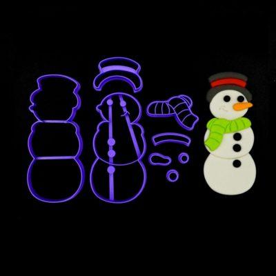 Emporte pièce en kit bonhomme de neige 2