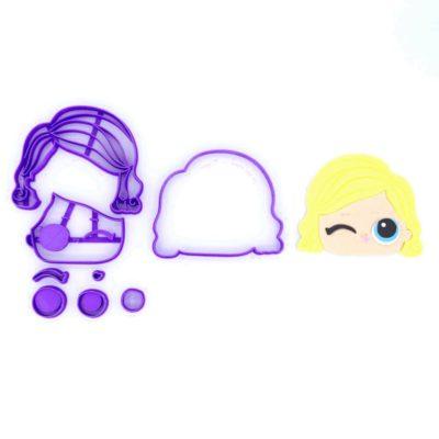 Emporte pièce en kit visage poupée LOL 4