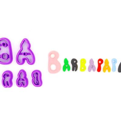 Emporte pièce en kit logo Barbapapa
