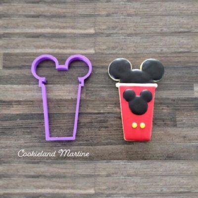 Emporte pièce contour gobelet Mickey