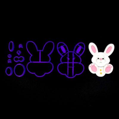 Emporte pièce en kit lapin de face assis