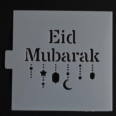 Pochoir eid mubarak