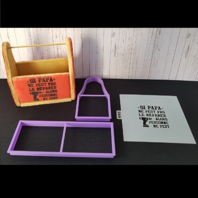 Lot emporte pièces et pochoir pour boîte à outils 3D
