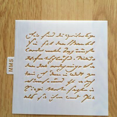 Pochoir lettre manuscrite