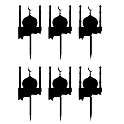 Lot de 6 mini topper mosquée