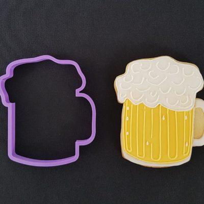 Emporte pièce contour chope de bière