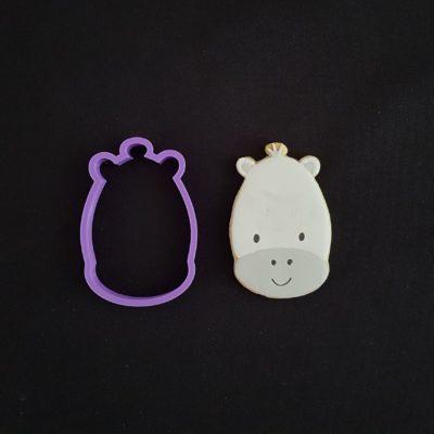 Emporte pièce contour tête d'hippopotame