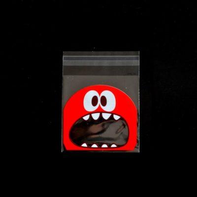 Lot de 10 sachets pour biscuits monstre rouge