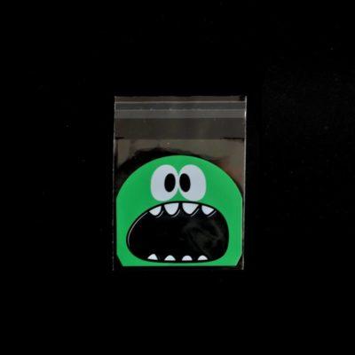Lot de 10 sachets pour biscuits monstre vert