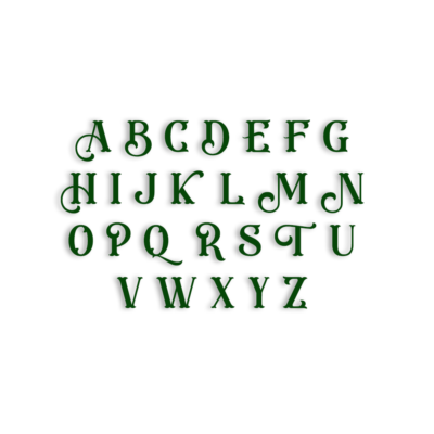 Lot de 26 tampons lettres Majuscules Eastwood