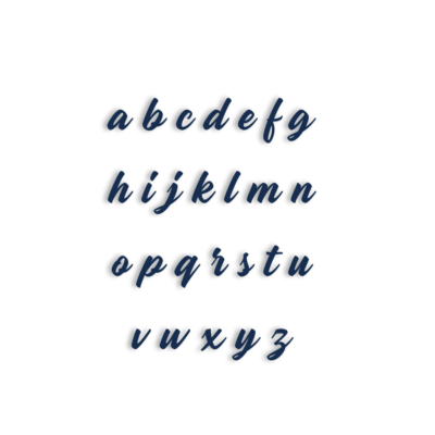 Lot de 26 tampons lettres minuscules Madame