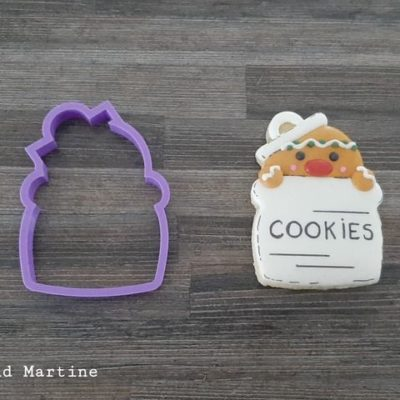 Emporte pièce contour boîte à cookies