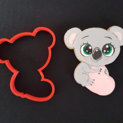 Emporte pièce contour koala coeur