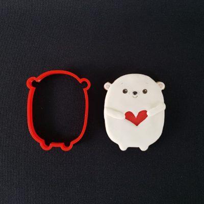 Emporte pièce contour ours polaire serre coeur