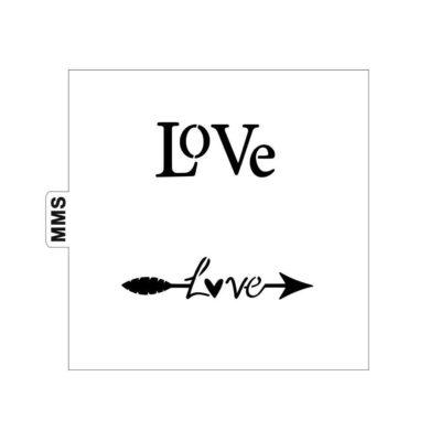 Pochoir flèche Love