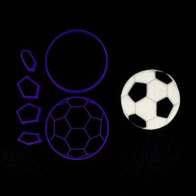 Emporte pièce en kit ballon de football
