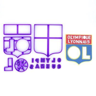 Emporte pièce en kit logo foot Olympique lyonnais
