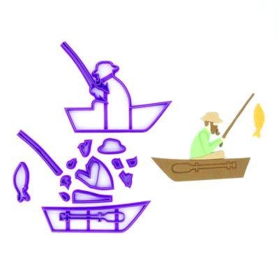Emporte pièce en kit Pêcheur