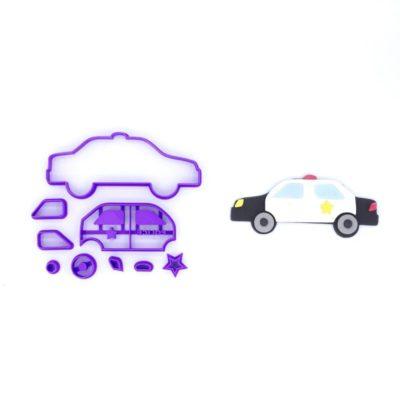 Emporte pièce en kit voiture police