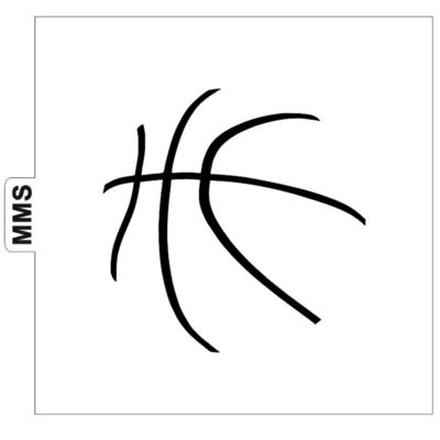 Pochoir ballon de basket