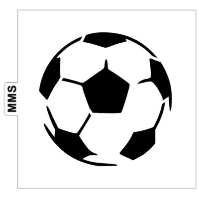Pochoir ballon de foot