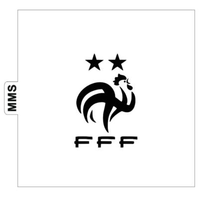 Pochoir logo FFF