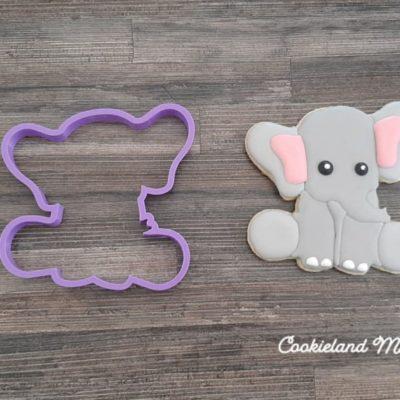 Emporte pièce contour éléphant